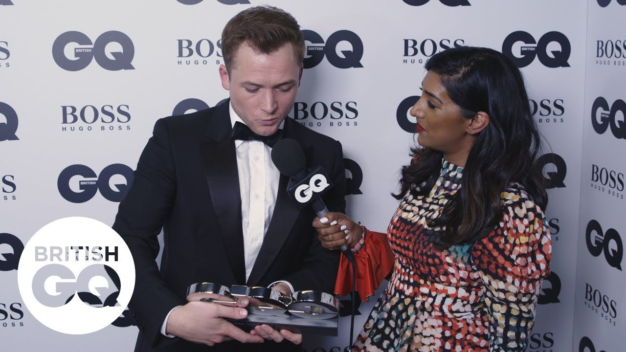 Taron Egerton at the GQ Awards: 'It's lovely to see my friend Richard Madden' | British GQ