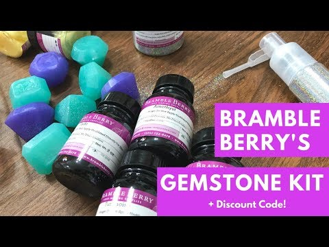 Playing with Bramble Berry's Gemstone Collection Kit + Discount Code!