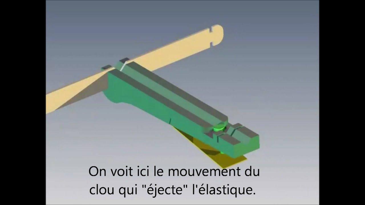 Syst me de gachette de la mini arbal te youtube for Arbalete fait maison