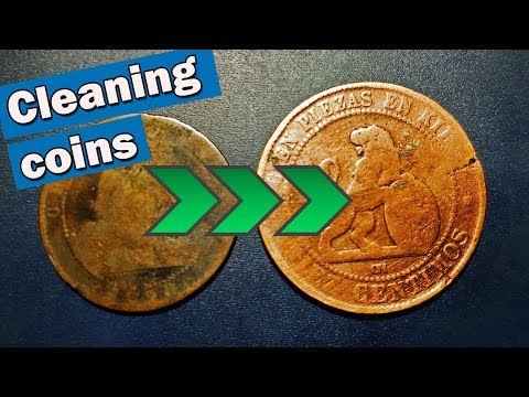 Cleaning coins with electrolysis ⚡