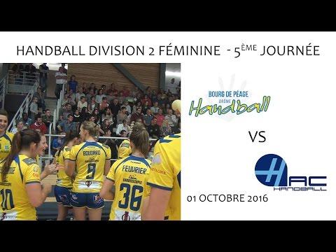 Handball D2F- 5ème journée / BDP vs LE HAVRE 01.10.2016