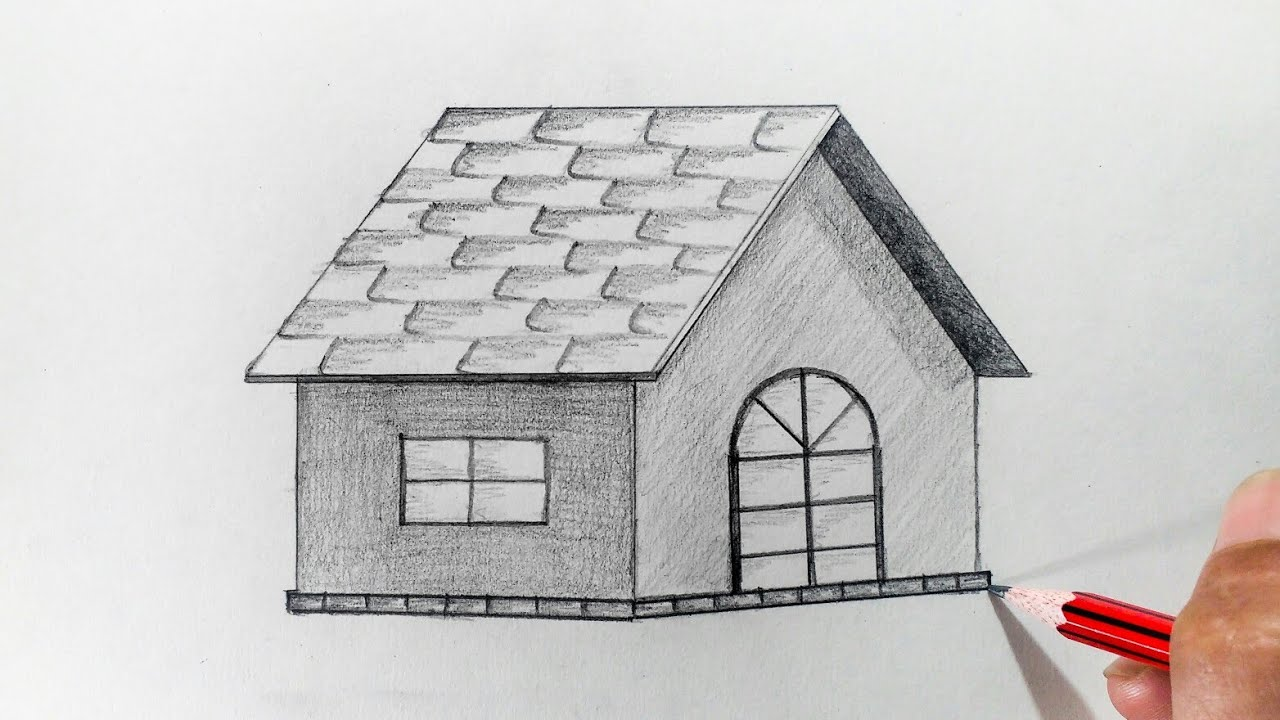 How To Draw A Hut Step By Very Easy