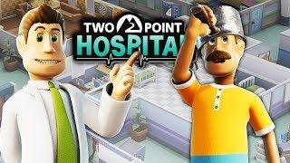 ЛЕЧУ КАСТЮЛЬНУЮ БОЛЕЗНЬ! Мультяшная игра Симулятор Больницы Two Point Hospital