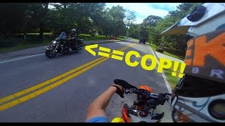 DIRT BIKE VS POLICE MOTORCYCLE!!