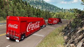 Repartidor de Coca Cola | Transportando Refresco Coca Cola | Kenworth T800 Camión Repartidor