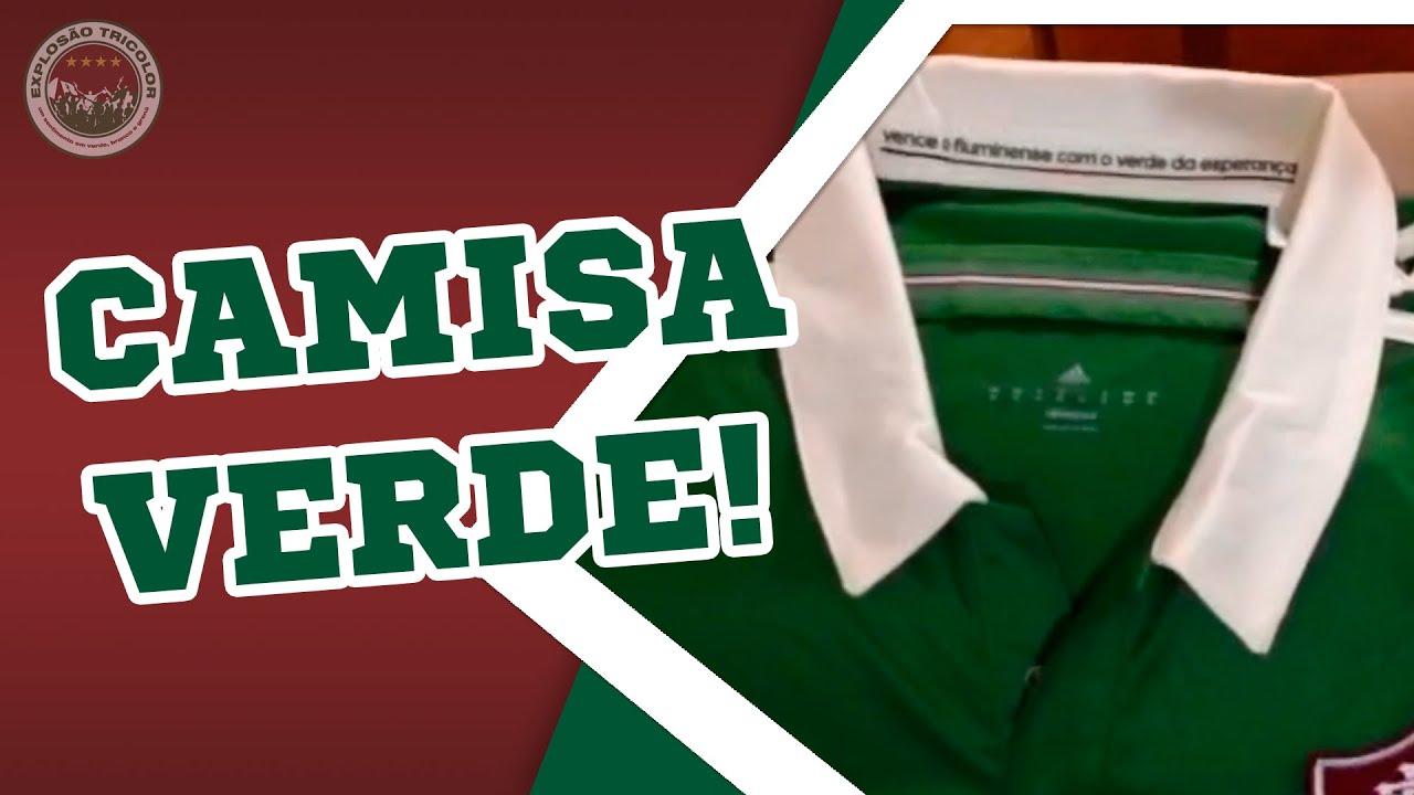 41b88b9d2a CAMISA VERDE SEM PATROCÍNIO! - Detalhes da nova camisa do Fluminense ...