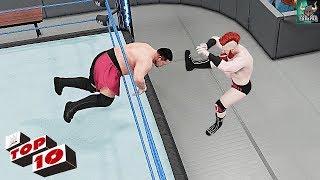 WWE 2K18 Top 10 Extreme Brogue Kicks!! WWE 2K19 Countdown