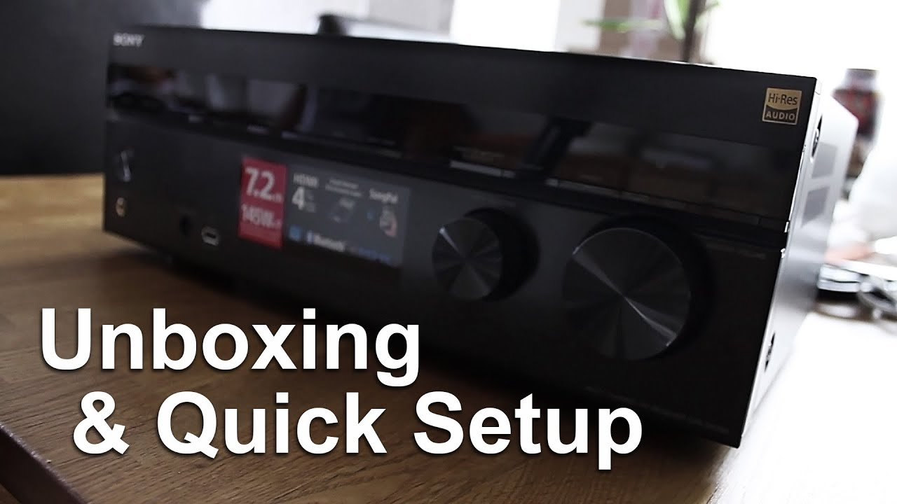 sony str dh750 a v receiver unboxing quick setup