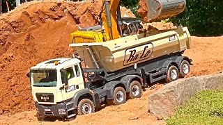 The BEST RC Construction-Site! MAN! TGS! Liebherr! 956! Komatsu! ScaleART! Hütschenhausen!