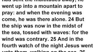 Matthew 14 KJV Read Along Audio Bible with Scrolling Text