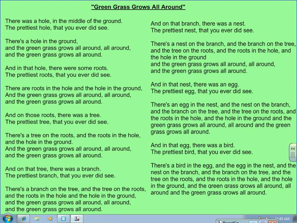 The Green Grass Grows All Around - YouTube