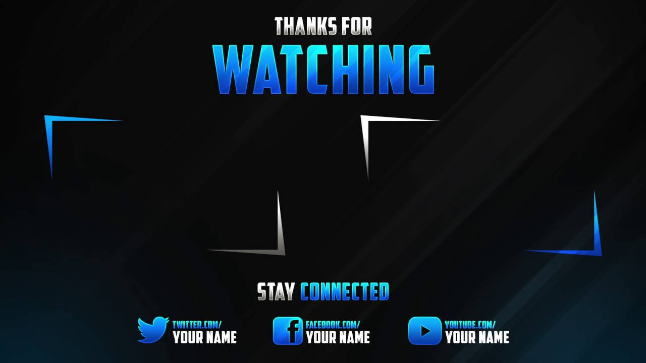 The best youtube outro template 2016 download youtube for Outro image