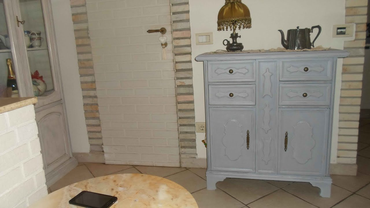 Credenza Shabby Chic Fai Da Te : Decorare un mobile shabby con chalk paint fatta in casa youtube