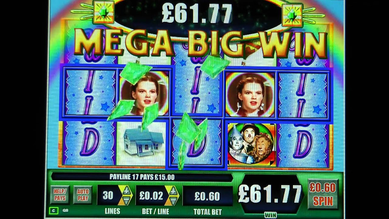 £152.30 MEGA BIG WIN (254 x STAKE) ON THE WIZARD OF OZ™ AT JACKPOT PARTY®