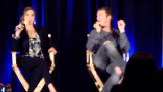 Arielle Kebbel talks about Lady Gaga visiting the TVD set - TVD Chicago 2013