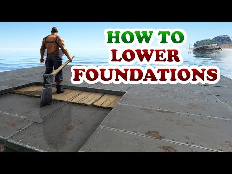 How to lower and extend a foundation on a platform saddle or a raft in Ark Survival Evolved