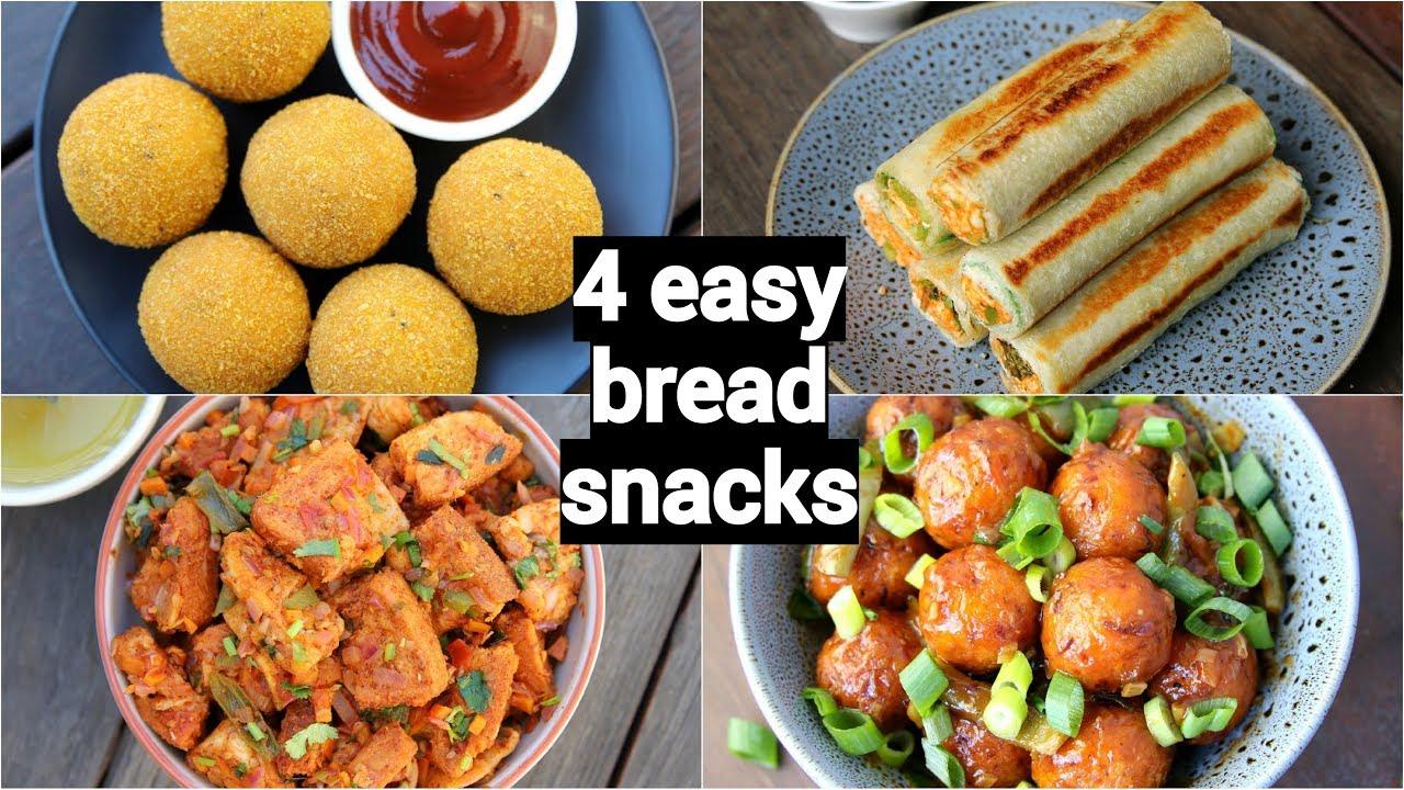 4 Easy Quick Bread Snacks Recipes Quick Evening Snacks With Leftover Bread