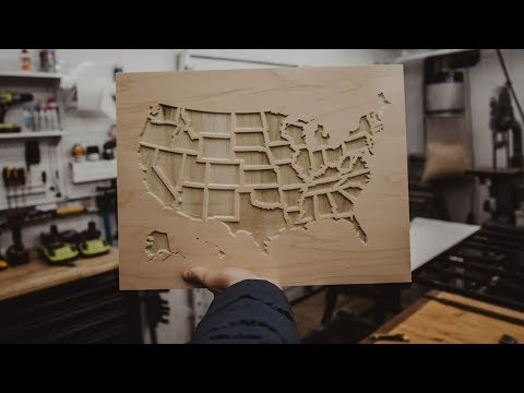 Making a USA Map To Cross Off Places We Have Been   How to work with SVG files on X-Carve