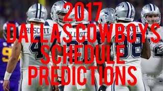 2017 Dallas Cowboys Schedule Predictions