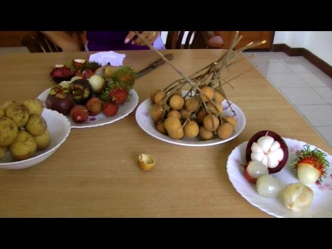 Comparing Longan, Rambutan, Mangosteen, Lychee, and Longkong | Video