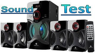 Zebronics 4.1 channel speaker Sound Quality Test ( zeb-bt4440rucf )