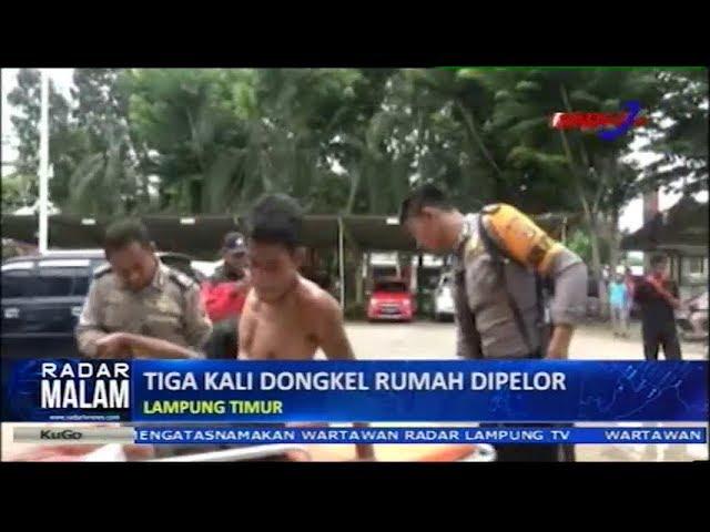 Kapok, Sering Dongkel Rumah Orang Akhirnya Dipelor Petugas