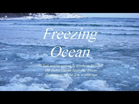 Freezing ocean on a very cold winter day - a relaxing nature video