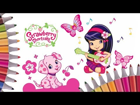 Cherry Jam and CinnaPup Colouring Pages   Strawberry Shortcake Coloring Book   Speed coloring video