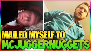 I MAILED MYSELF IN A BOX TO @MCJUGGERNUGGETS HOUSE & IT WORKED! (HUMAN MAIL CHALLENGE)