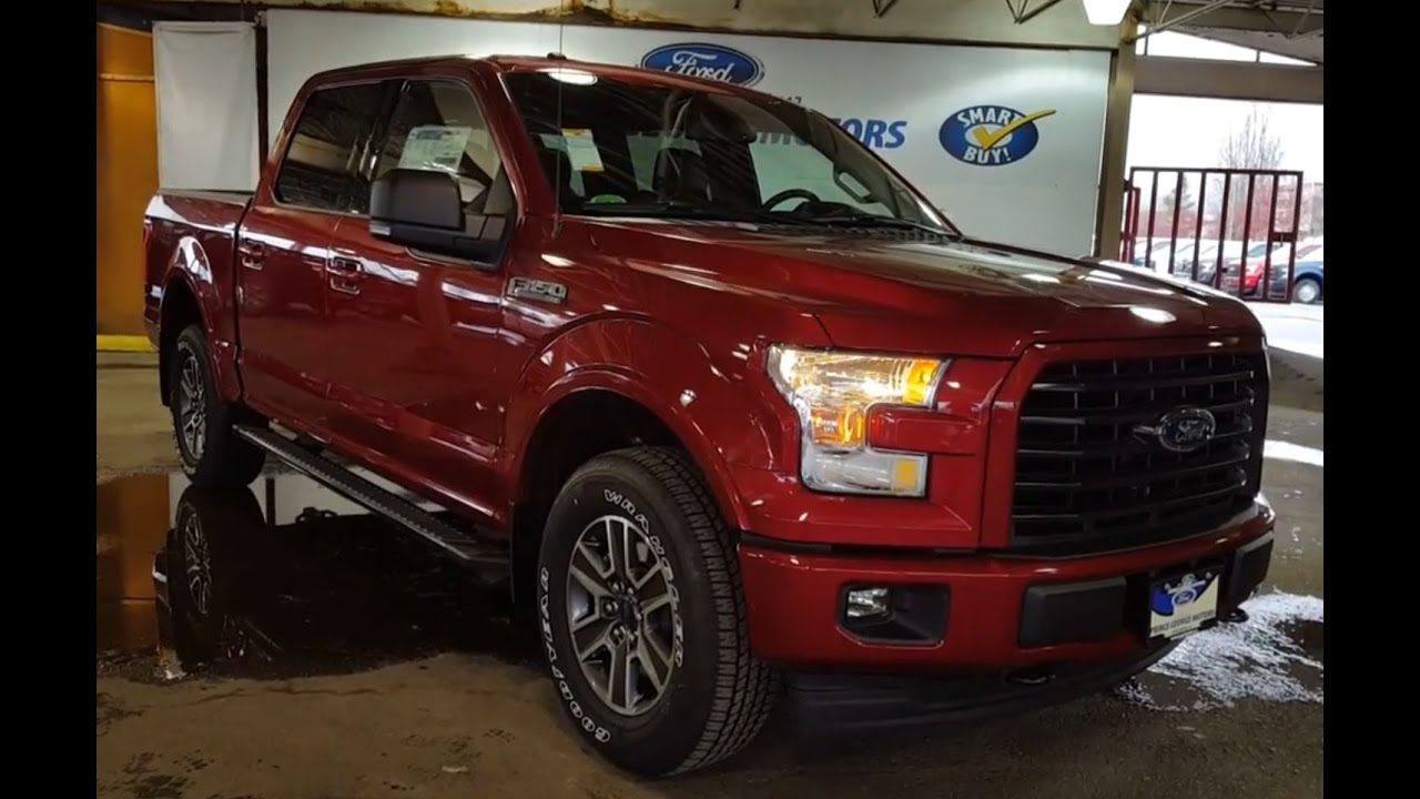 2017 red ford f 150 4x4 supercrew xlt fx4 sport review prince george motors youtube. Black Bedroom Furniture Sets. Home Design Ideas