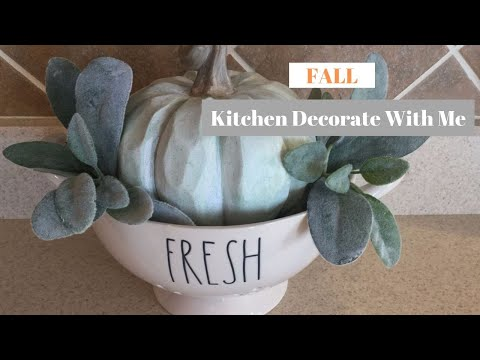 DECORATE FOR FALL WITH ME 2019 | FALL KITCHEN DECOR IDEAS | Decorate With Dana