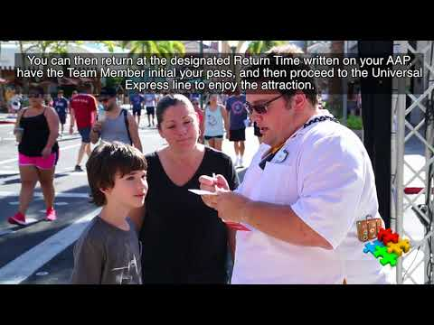 Universal Studios Resorts: Using the Attraction Assistance Pass (AAP)