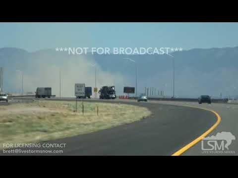 5/12/2018-Albuquerque, New Mexico Violent Dust Devil Crosses I-40
