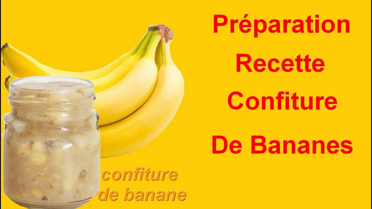 recette confiture de bananes facile youtube. Black Bedroom Furniture Sets. Home Design Ideas
