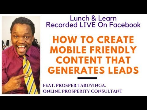 How to create mobile friendly content that generates leads
