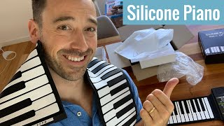 Silicone Roll Up Keyboard Pianos Unboxing and Review screenshot 3