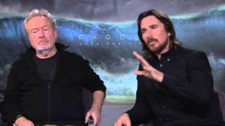 Exodus: Gods and Kings: Director Ridley Scott & Christian Bale Official Movie Interview