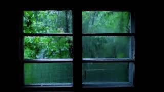 Rain Sound and Thunder   2 Hours Sleep Звук дождя и грома в деревне! 2 часа.