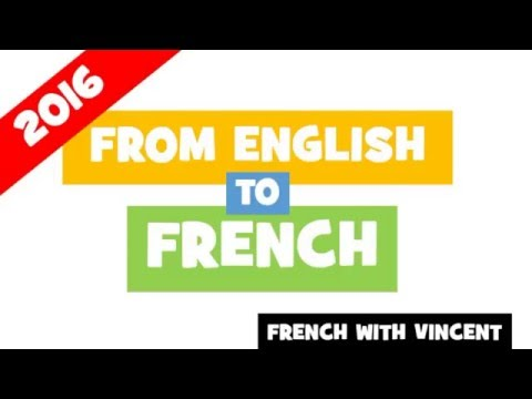 120 English verbs translated into French