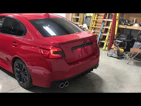 CNT Axel Back Muffler Deletes 2015 WRX Cold Start And Revs