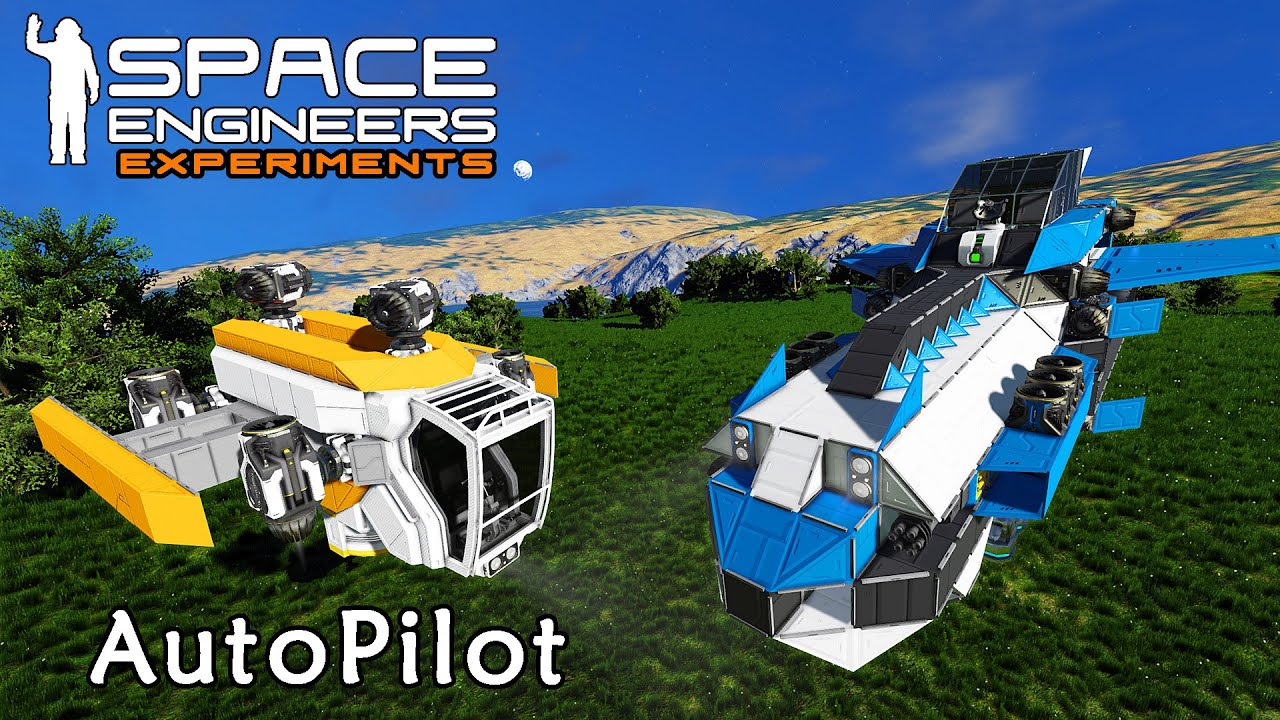 Space Engineers Experiments: Autopilot Testing With Hover Engines and Vector Thrust