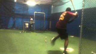 CAGE WORK WITH CINCINNATI REDS DRAFT PICK MORGAN PHILLIPS