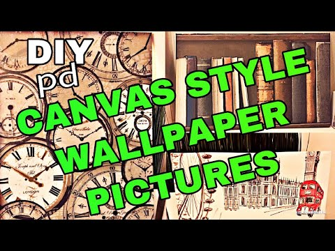 How to Make a Canvas Style Wallpaper Pictures from Wallpaper Samples | DIY Decor ideas