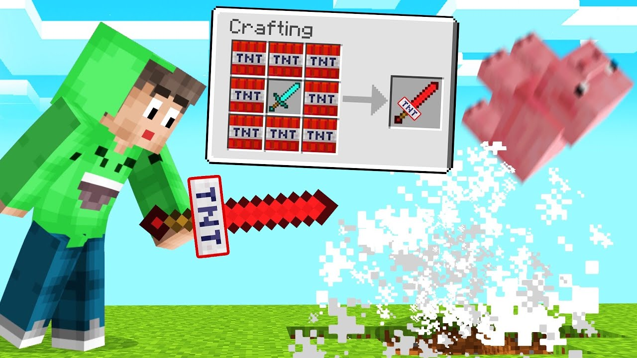 NEW *EXPLOSIVE* TNT SWORD In MINECRAFT! (Overpowered) thumbnail