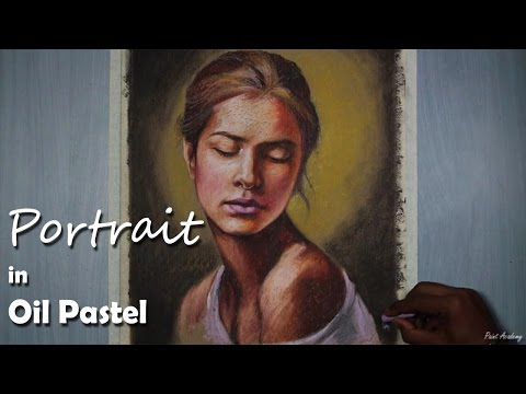 a-girl-portrait-in-oil-pastel-|-speed-art