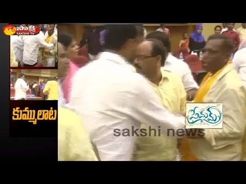TDP and YCP Corporators Fight in Nellore Municipal Corporation