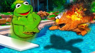 Kermit the Frog and Elmo's EXTREME Summer Belly Flop Challenge!