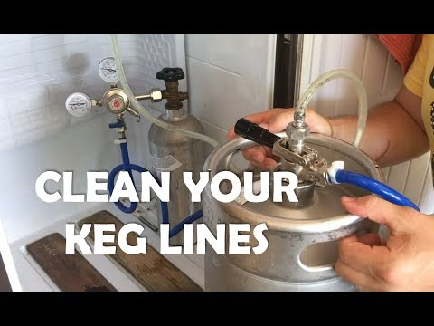 How to clean your kegerator beer lines - DO IT