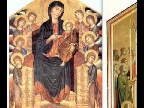Comparisons of Cimabue and Giotto