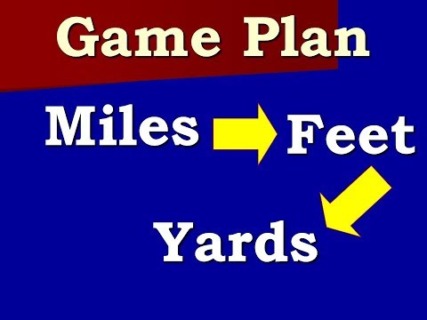 How To Convert Between Miles, Feet, And Yards